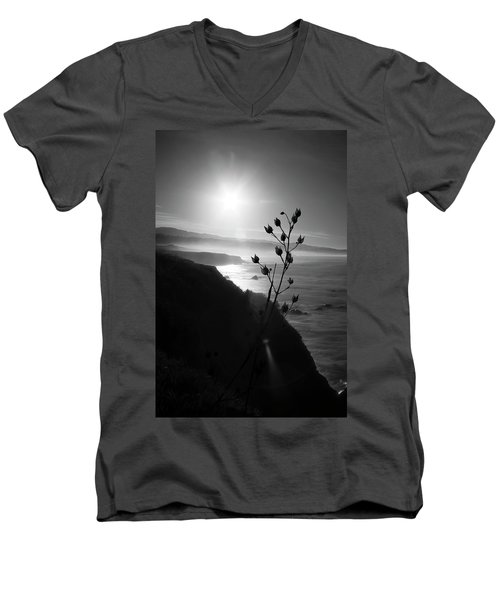 Pacific Coast B/w Men's V-Neck T-Shirt
