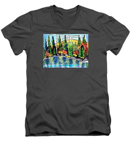 Pacific Coast Forest Men's V-Neck T-Shirt