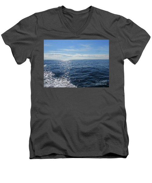 Pacific Ocean Men's V-Neck T-Shirt by Cindy Murphy - NightVisions