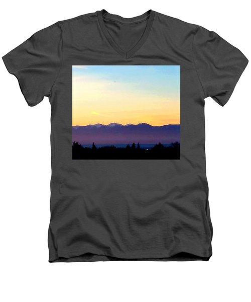 Pacific Twilight Men's V-Neck T-Shirt