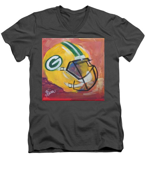 Packer Helmet Men's V-Neck T-Shirt