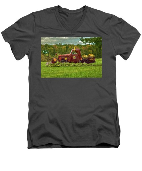 Packers Plow Men's V-Neck T-Shirt by Trey Foerster