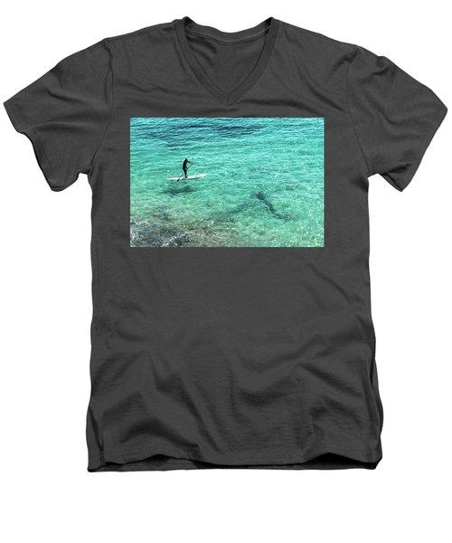 Paddle The Aqua Sea Men's V-Neck T-Shirt