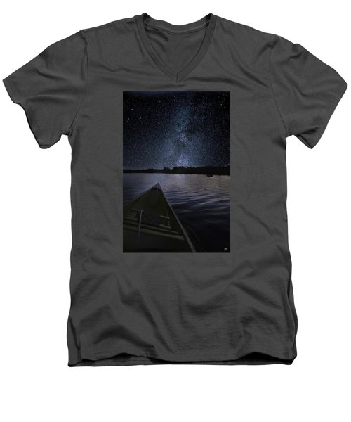 Paddling The Milky Way Men's V-Neck T-Shirt