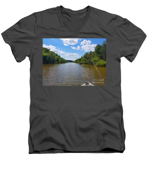 Paddling Up Crooked Creek Men's V-Neck T-Shirt
