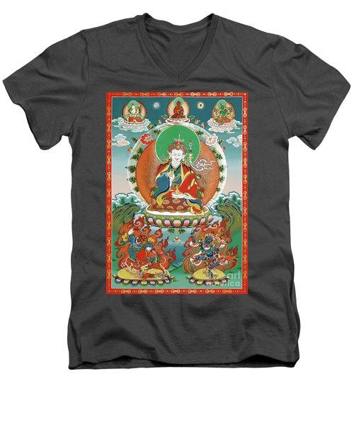 Padmasambhava Men's V-Neck T-Shirt by Sergey Noskov