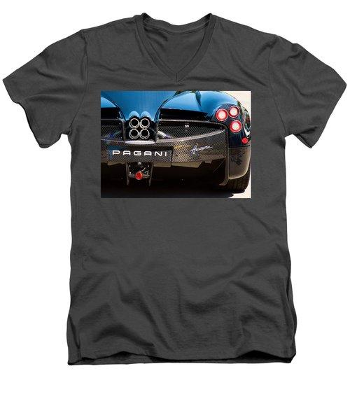 Pagani Huayra Black Men's V-Neck T-Shirt