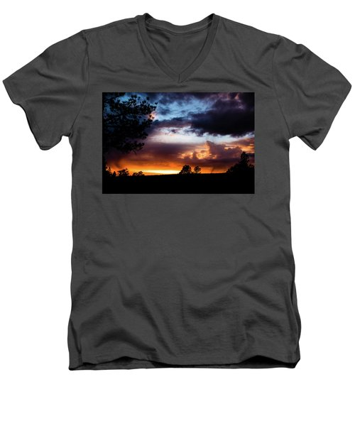 Pagosa Sunset 11-20-2014 Men's V-Neck T-Shirt