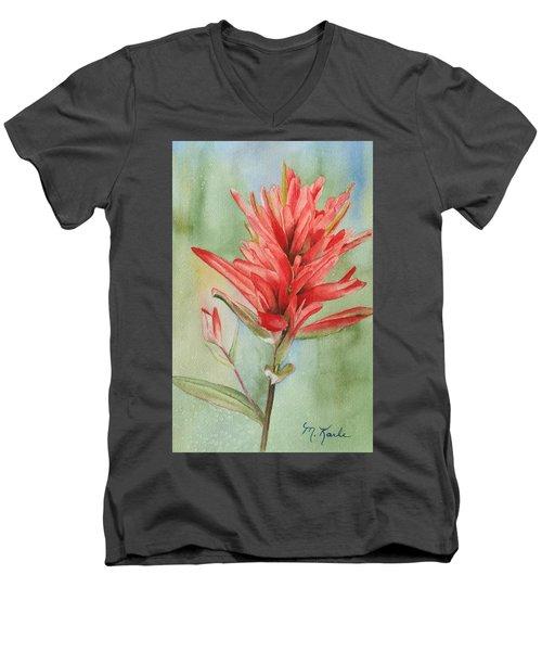 Paintbrush Portrait Men's V-Neck T-Shirt