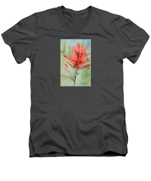 Paintbrush Portrait Men's V-Neck T-Shirt