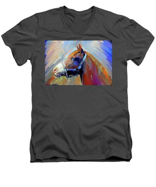 Painted Color Horse Men's V-Neck T-Shirt