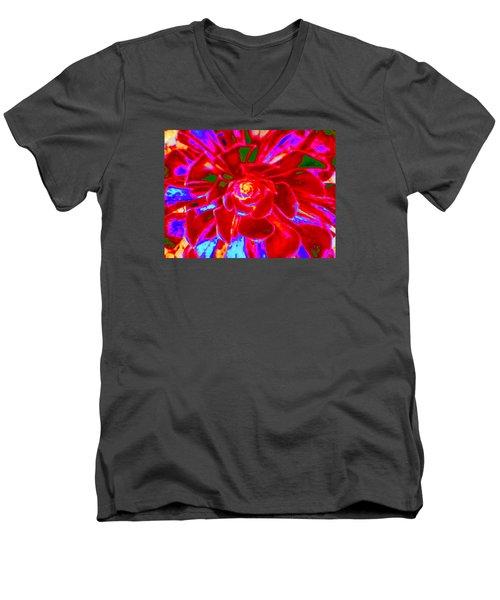 Carnival Colors Men's V-Neck T-Shirt by Vivien Rhyan