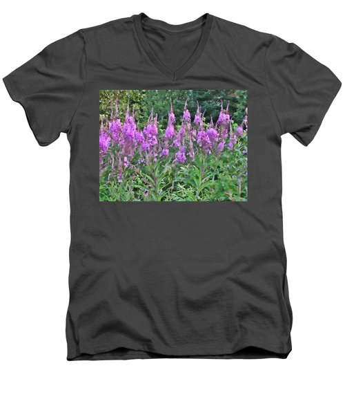 Painted Fireweed Men's V-Neck T-Shirt