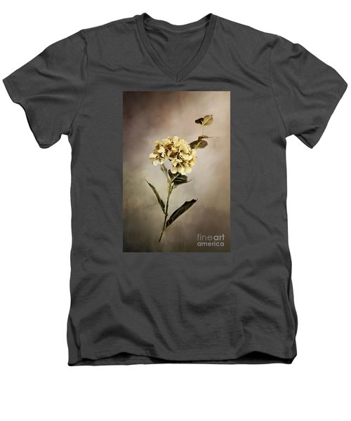 Painted Hydrangeas Men's V-Neck T-Shirt