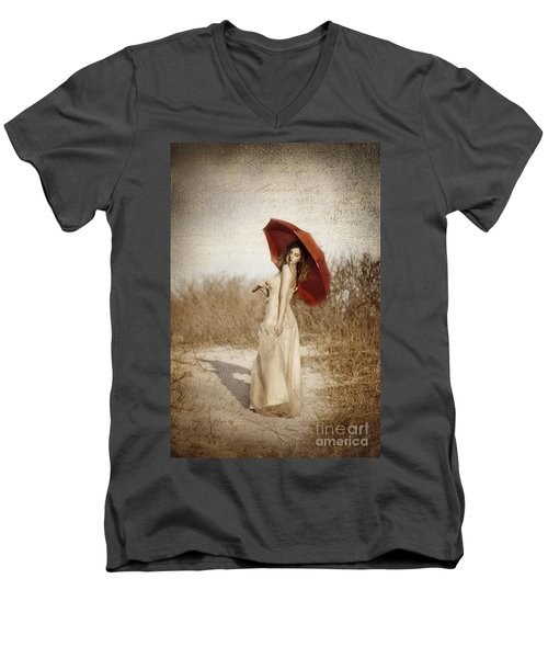 Painted Lady Men's V-Neck T-Shirt