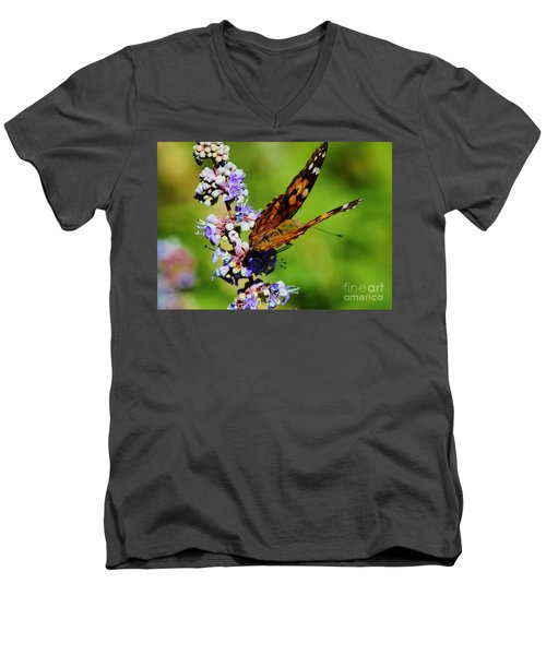 Painted Lady II Men's V-Neck T-Shirt