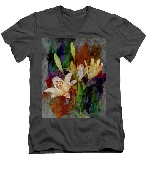 Painted Lilies Men's V-Neck T-Shirt