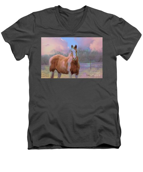 Painted Naturally Men's V-Neck T-Shirt