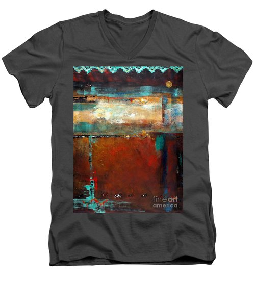 Painted Ponies Men's V-Neck T-Shirt by Frances Marino