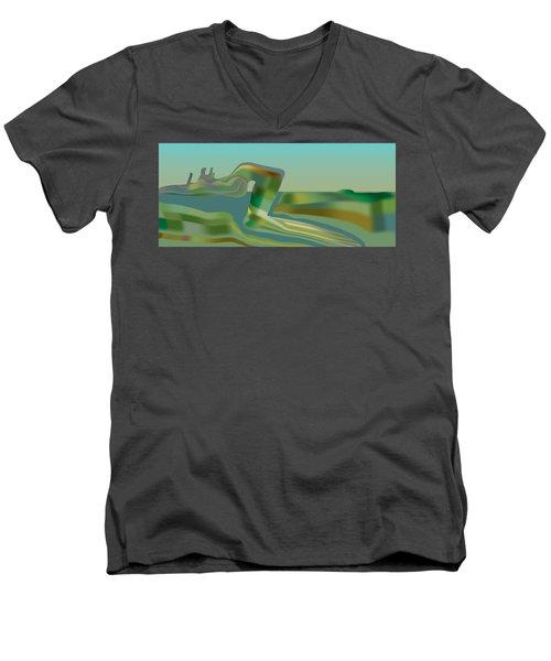 Painted Riverland Men's V-Neck T-Shirt