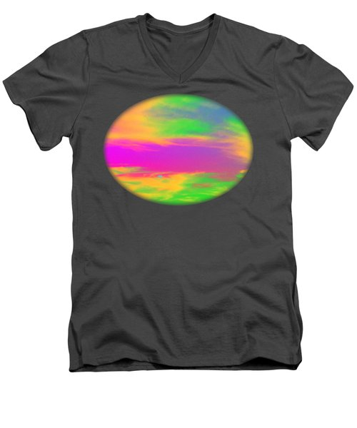 Painted Sky - Abstract Men's V-Neck T-Shirt