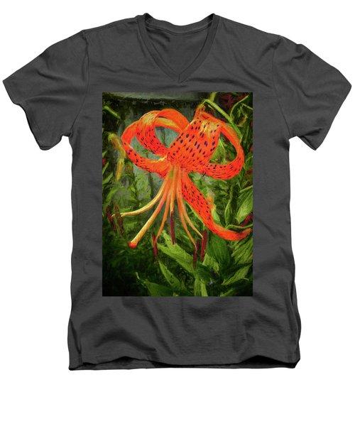 Painted Tiger Men's V-Neck T-Shirt