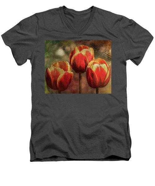 Painted Tulips Men's V-Neck T-Shirt