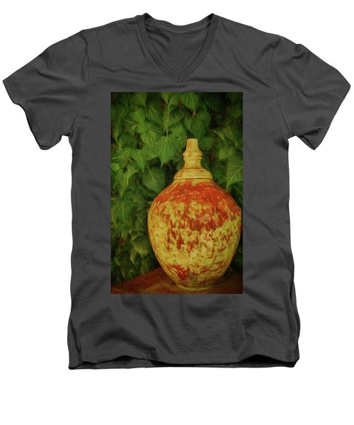 Painted Vase Men's V-Neck T-Shirt