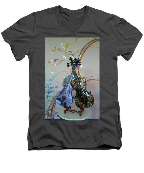 Painted Violins Men's V-Neck T-Shirt