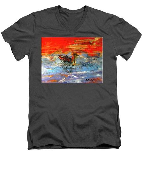 Painterly Escape II Men's V-Neck T-Shirt