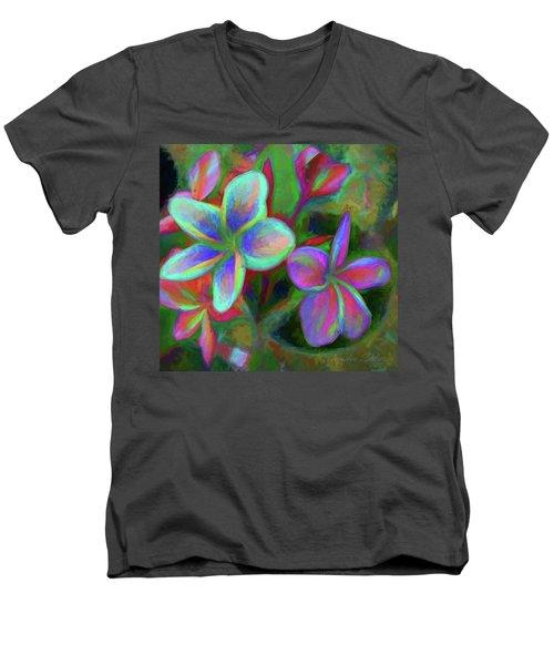 Painterly Frangipanis Men's V-Neck T-Shirt