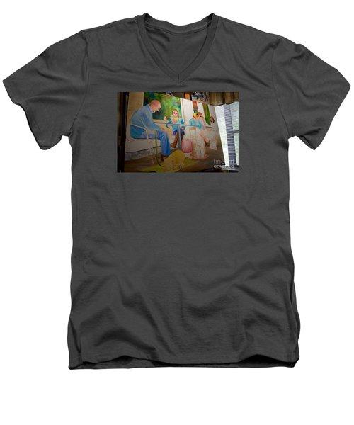 Painting Dogs On Park Avenue Men's V-Neck T-Shirt