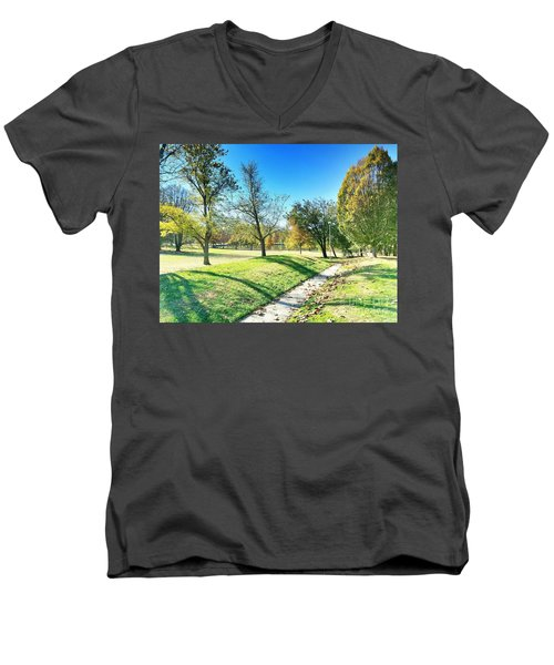 Painting With Shadows - Park Day Men's V-Neck T-Shirt
