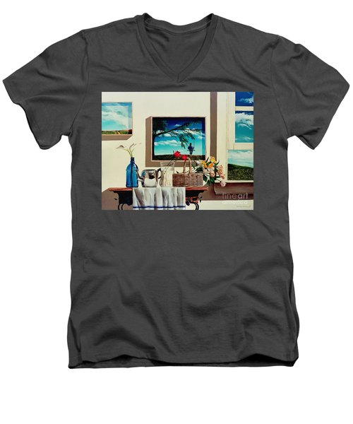 Paintings Within A Painting Men's V-Neck T-Shirt