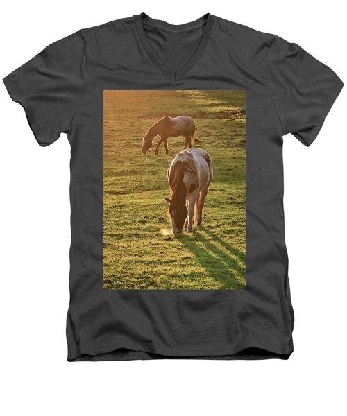 Paints Backlit Men's V-Neck T-Shirt