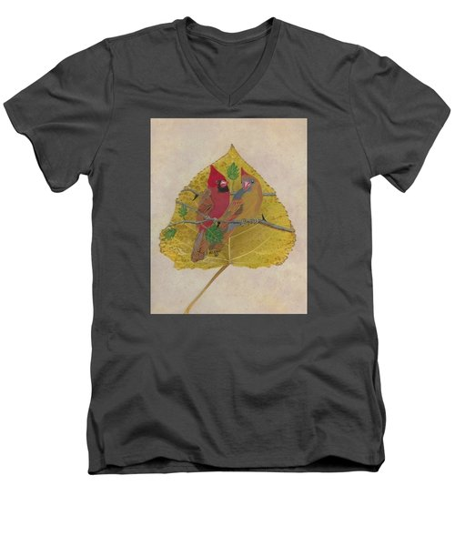 Pair Of Cardinals Men's V-Neck T-Shirt