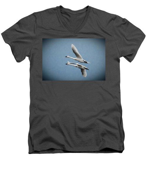 Pair Of Tundra Swan Men's V-Neck T-Shirt
