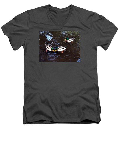 Pair Off In Threes Men's V-Neck T-Shirt