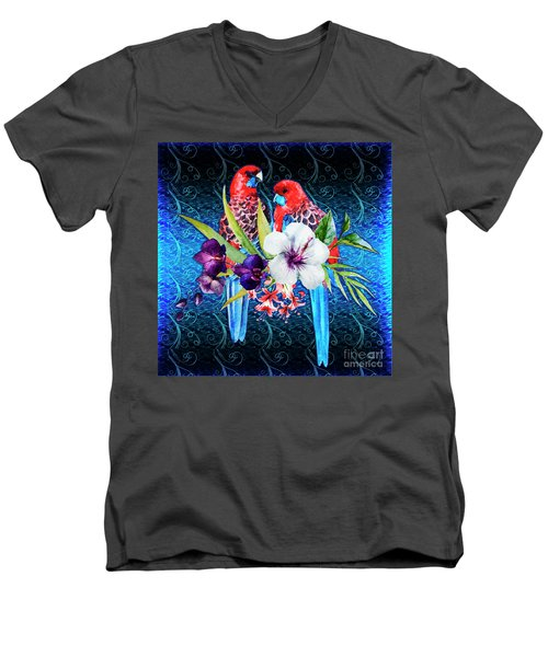 Paired Parrots Men's V-Neck T-Shirt