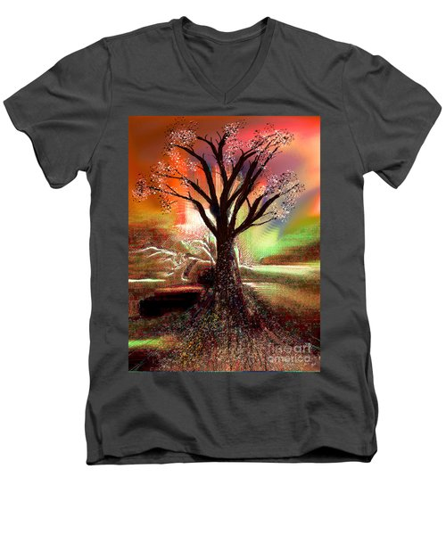 Pale Moonlight 2 Men's V-Neck T-Shirt