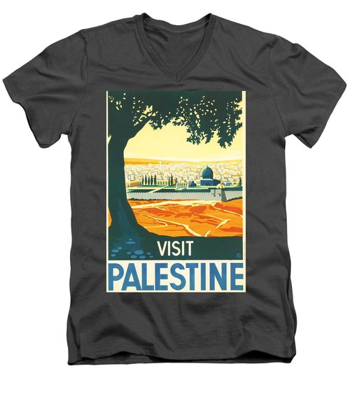 Palestine Men's V-Neck T-Shirt