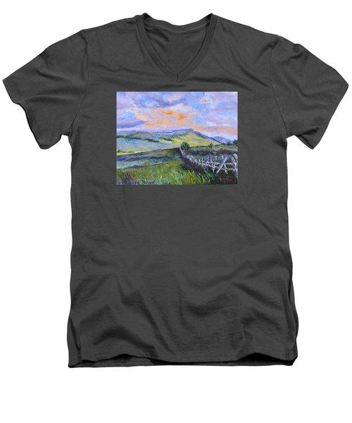 Pallet Knife Sunset Men's V-Neck T-Shirt