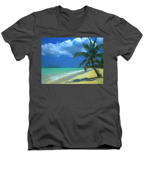Palm Beach In The Keys Men's V-Neck T-Shirt