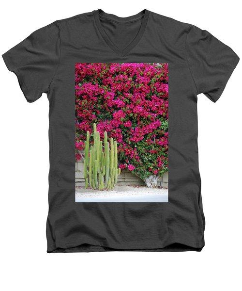 Palm Desert Blooms Men's V-Neck T-Shirt