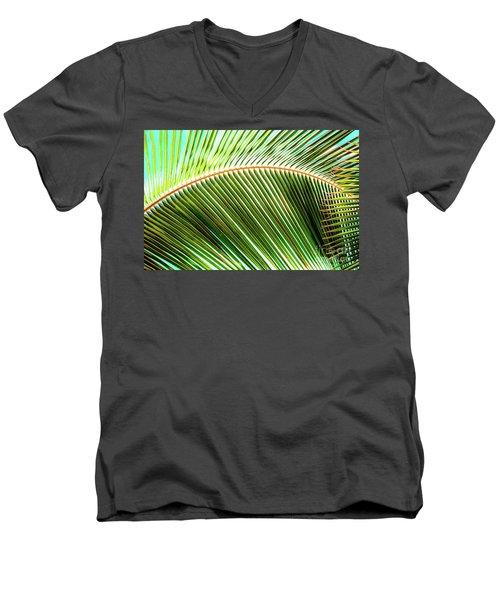 Palm Frond Sway Men's V-Neck T-Shirt