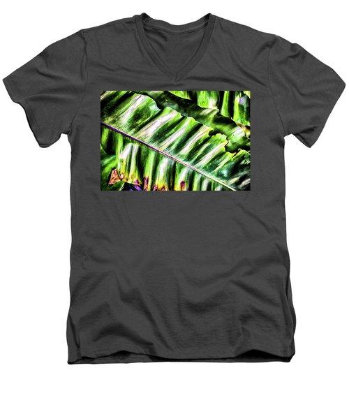 Palm Fronds Up Close Men's V-Neck T-Shirt