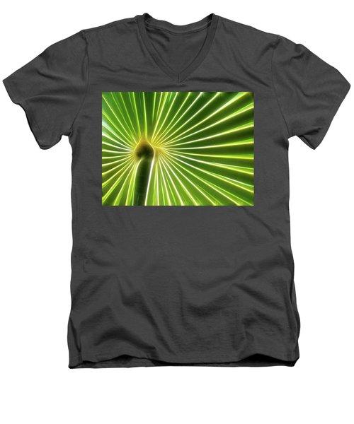 Palm Glow Men's V-Neck T-Shirt