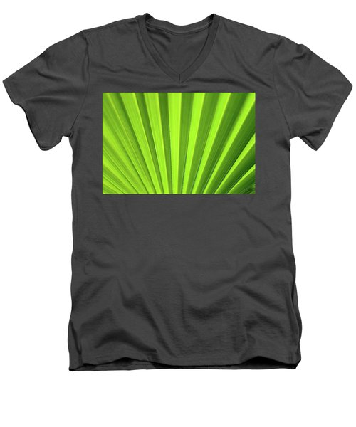 Palm Leaf Abstract Men's V-Neck T-Shirt