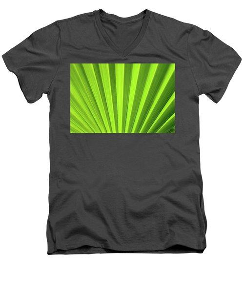 Palm Leaf Abstract Men's V-Neck T-Shirt