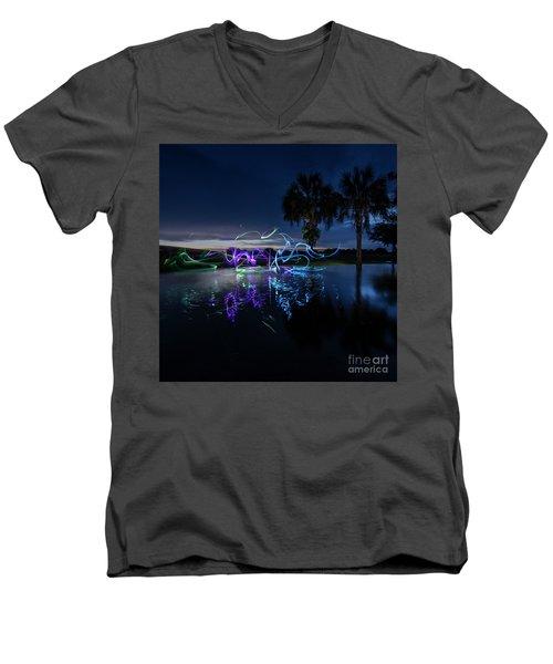 Palm Lights Men's V-Neck T-Shirt